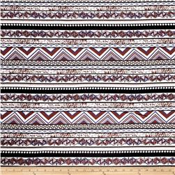 Rayon Challis Abstract Brown