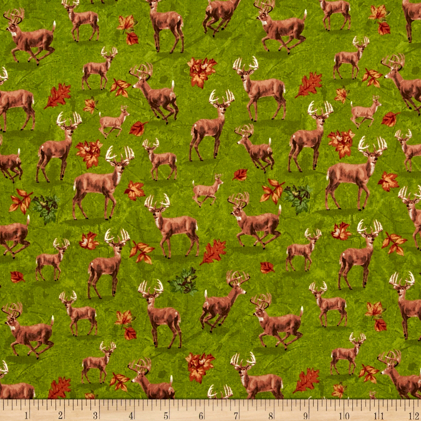 INOpets.com Anything for Pets Parents & Their Pets Forest Deer Green Fabric