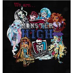 Monster High Fleece We Are Moster High Black