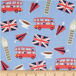 Dear Stella London Calling London Motifs Blue