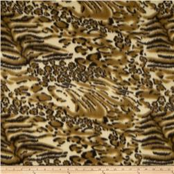 Printed Fleece Cheetah & Tiger Brown