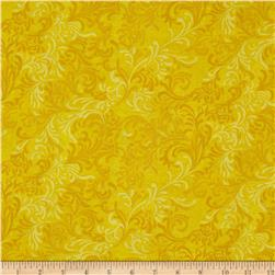 108'' Wide Essentials Quilt Backing Flourish Yellow Fabric