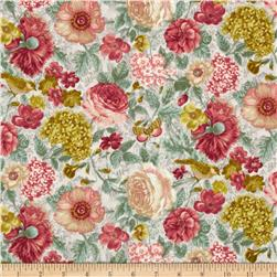 A Walk In The Park Floral Aqua