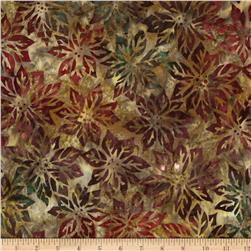 Robert Kaufman Northwood Batiks Poinsettia Leaf Nature