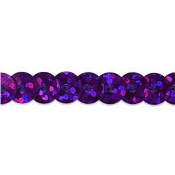 6mm Slung String Sequin Trim Roll Purple