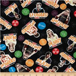 The Big Bang Theory Cast & Elements Black/Multi