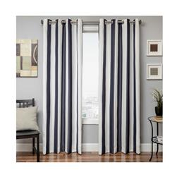 "Sunbrella 96"" Grommet Stripe Outdoor Panel Navy"