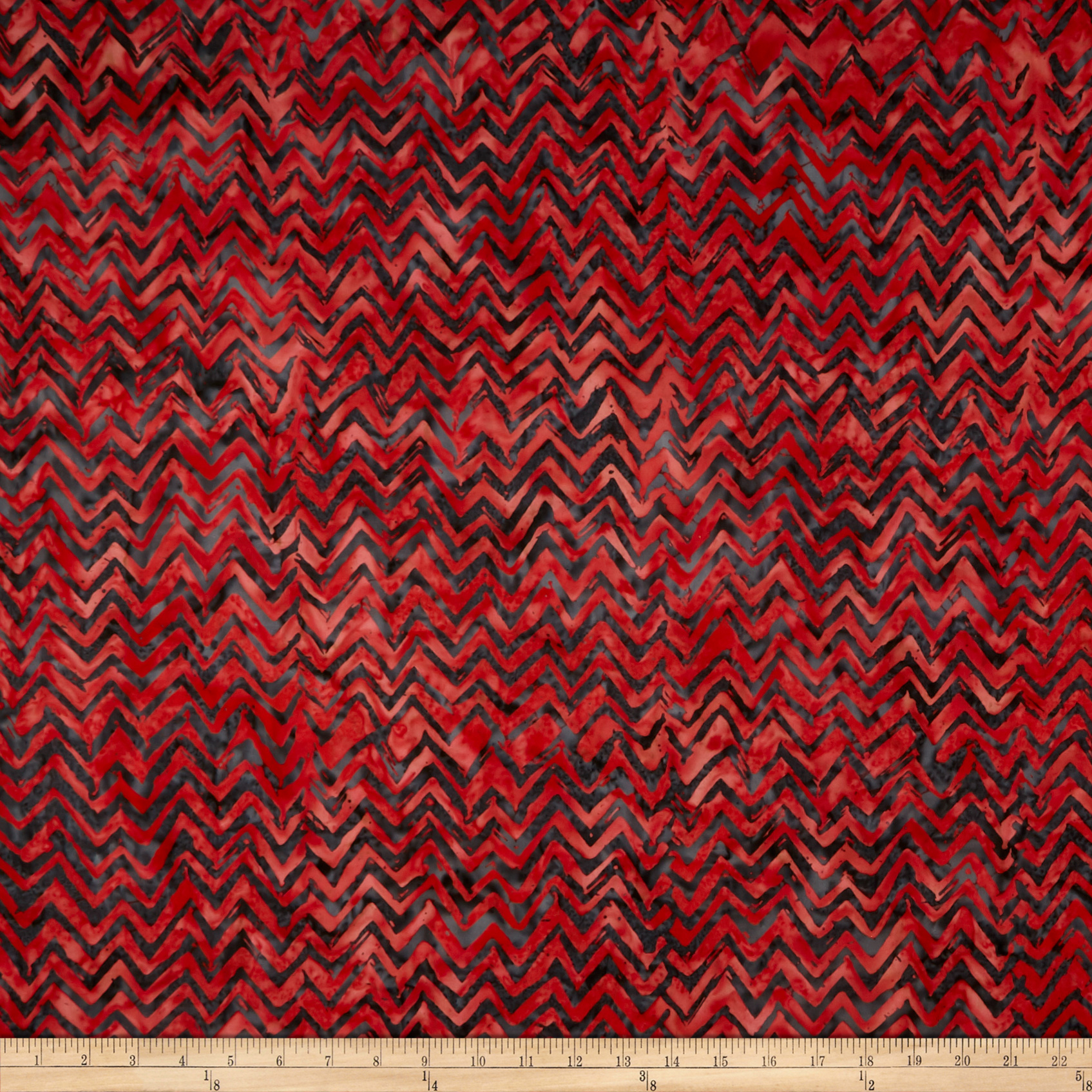Anthology Batiks Chevron Red Fabric