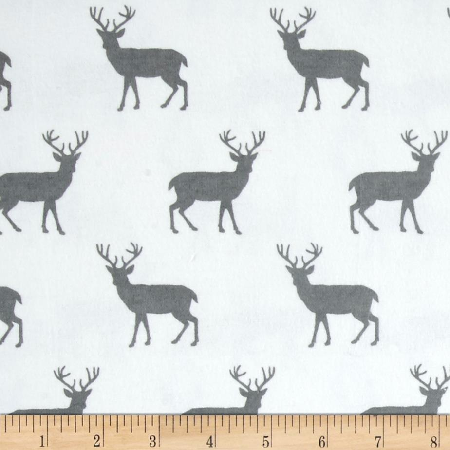 Comfy  Flannel Deer White