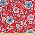Riley Blake Twice as Nice Large Floral Red