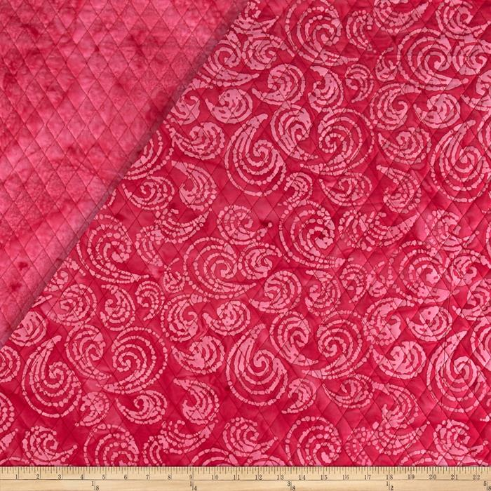 Indian Batik Double Face Quilted Swirl Pink