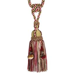 "Fabricut 33"" Decadence Single Tassel Tieback Holiday"