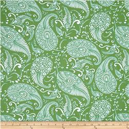 Merry Mistletoe Paisley Green