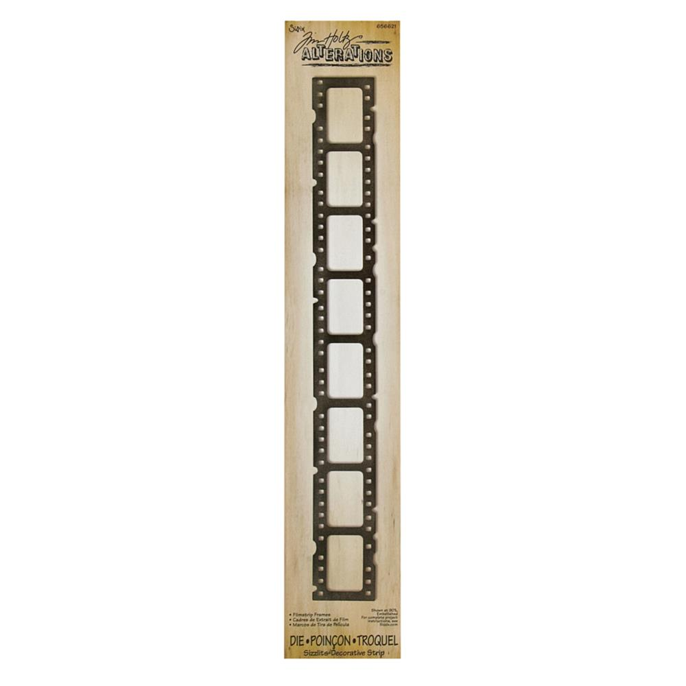 Sizzix Sizzlits Tim Holtz Decorative Strip Die Filmstrip Frames