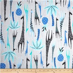 Michael Miller Migration Giraffes Blue