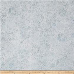 Kaufman Artisan Batiks Snowflake Metallic Collage Snow