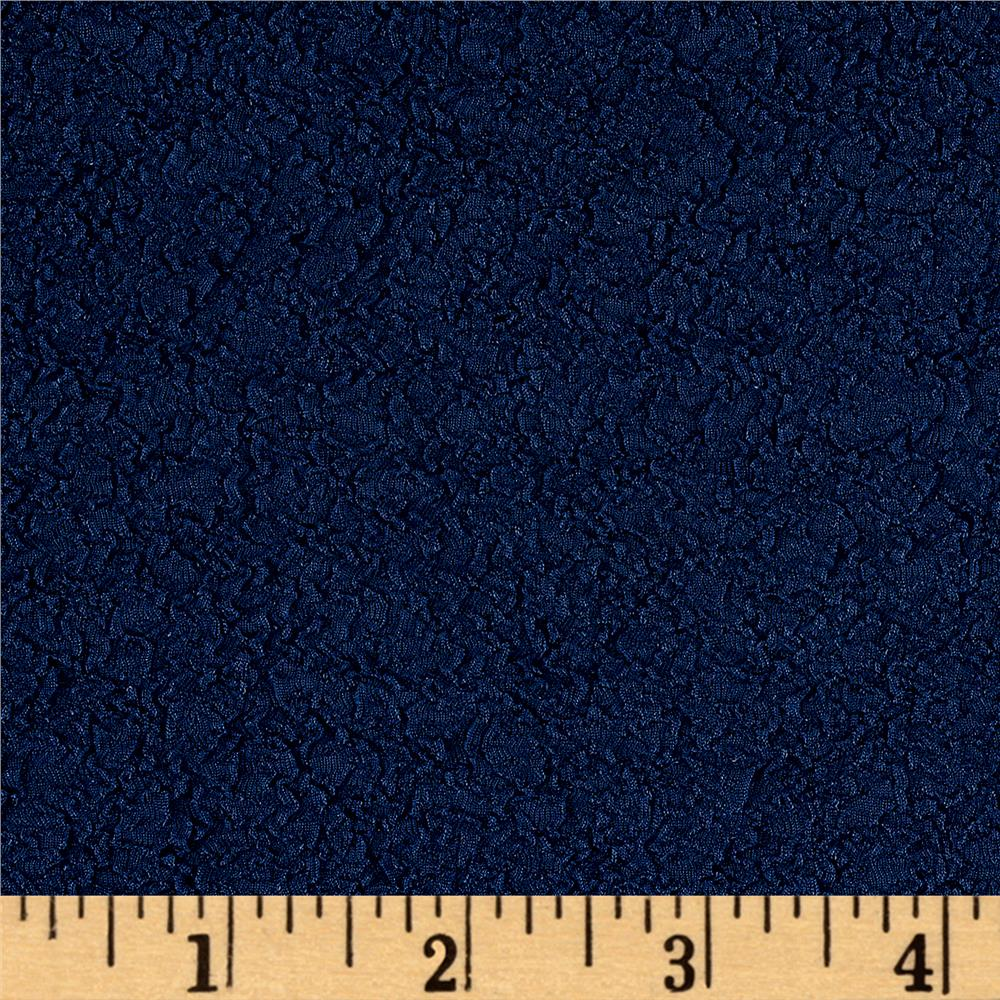 Crinkle Rib Double Knit Navy