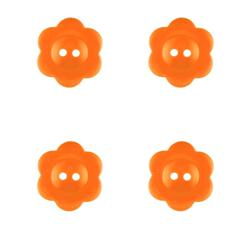 "Riley Blake Sew Together 1"" Flower Matte Button Orange"