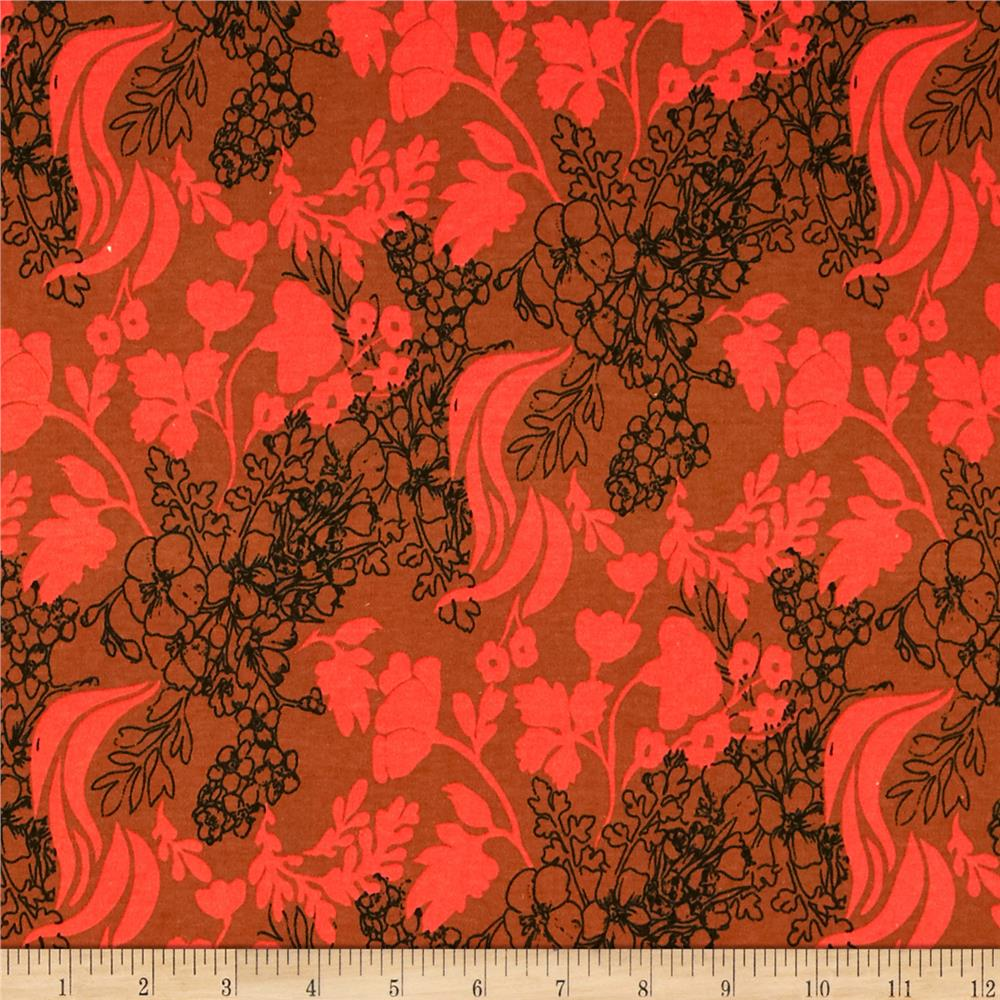 Anna Maria Horner Pretty Potent Interlock Knit Tangle Rust