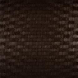 Luxury Faux Leather Embossed Stripe Coffee Bean