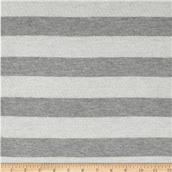Designer Yarn Dyed Smocked Stripe Jersey Knit Coal/White