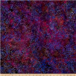 Island Batik Rayon Challis Purple Poppy Purple