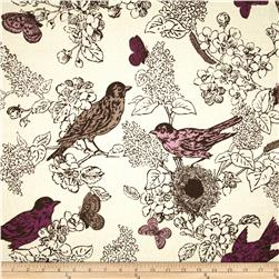 Duralee Bird Nest Lilac Fabric