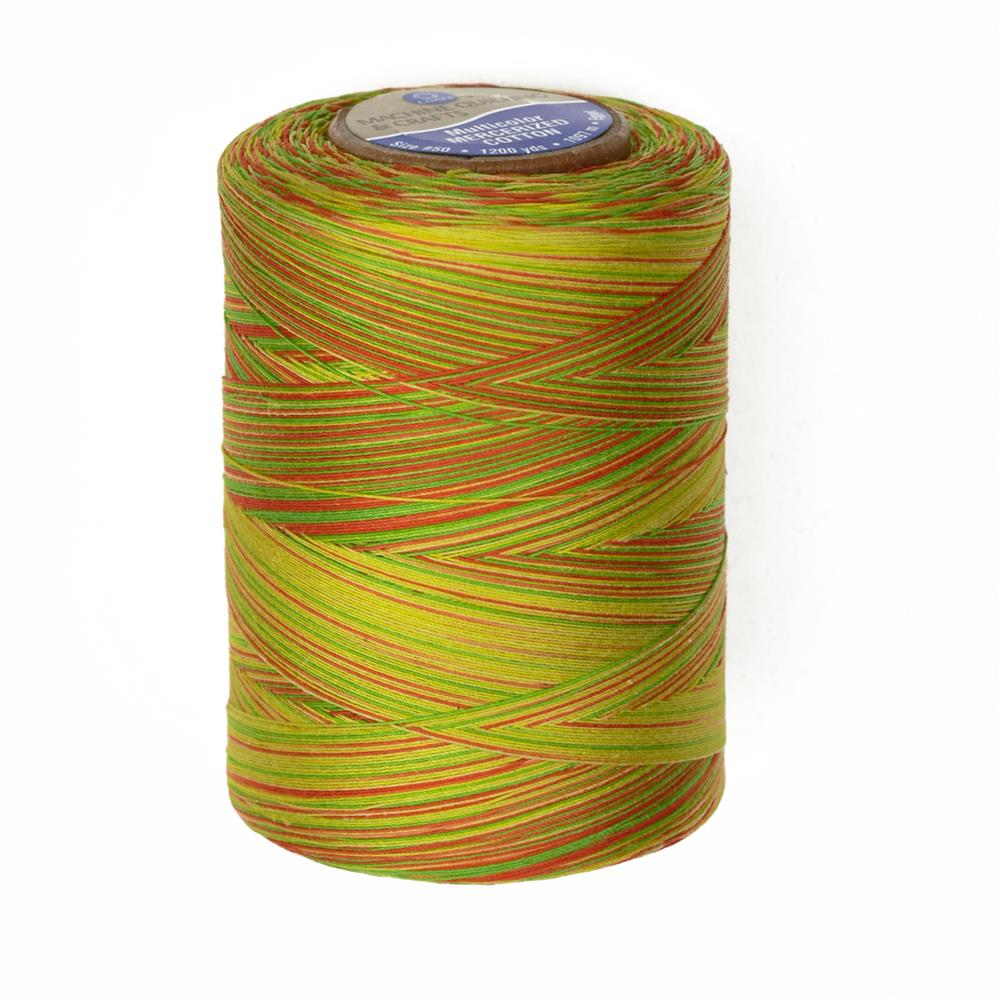 Cotton Machine Quilting Multicolor Thread 1200 YD Citrus