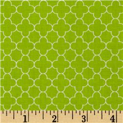 Riley Blake Mini Quatrefoil Lime