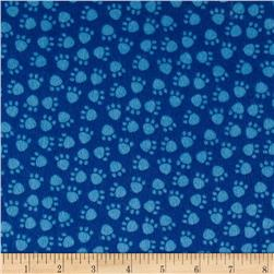 Dino Pals Flannel Dino Tracks Blue