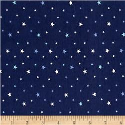 Avalana Jersey Knit Stars Blue