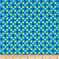 Lecien Spicy Scrap Multi Dot Blue
