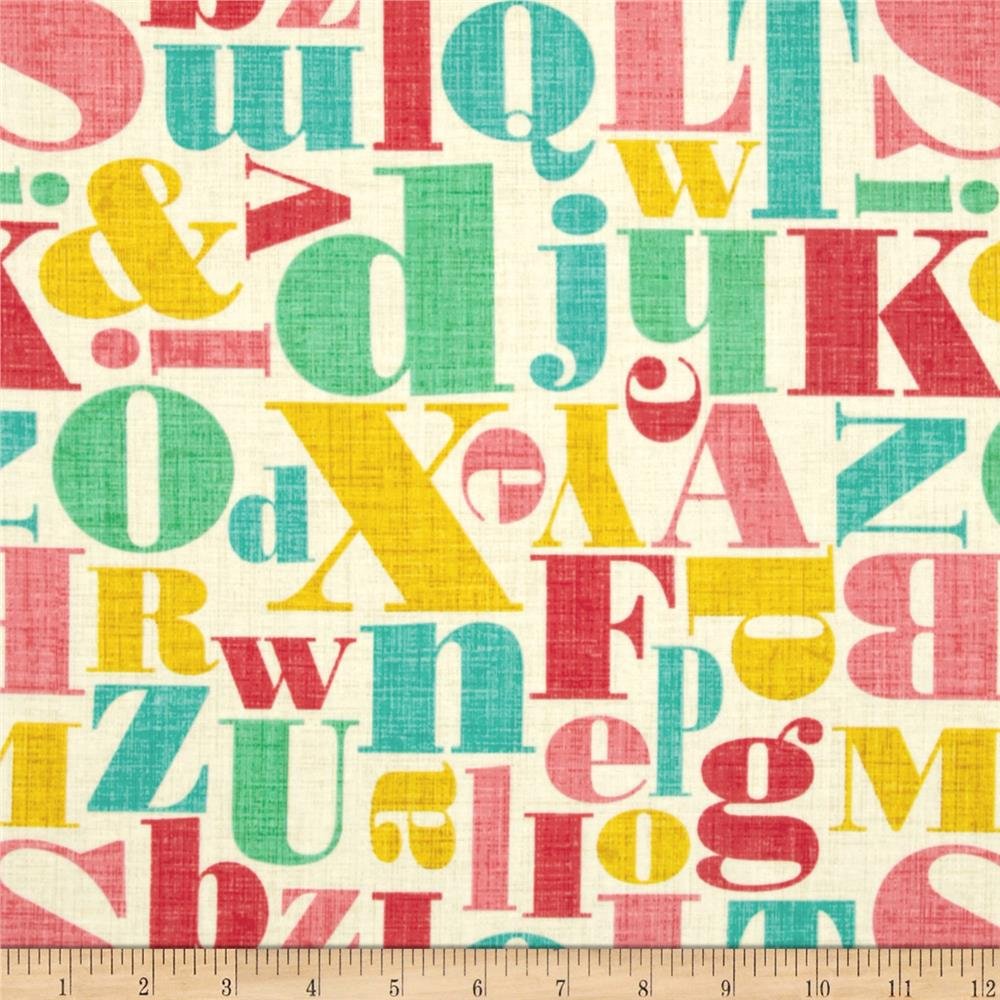 Michael Miller Just My Type Letterpress Multi