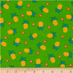 Cotton/Lycra Spandex Jersey Knit Pineapple Pint Green