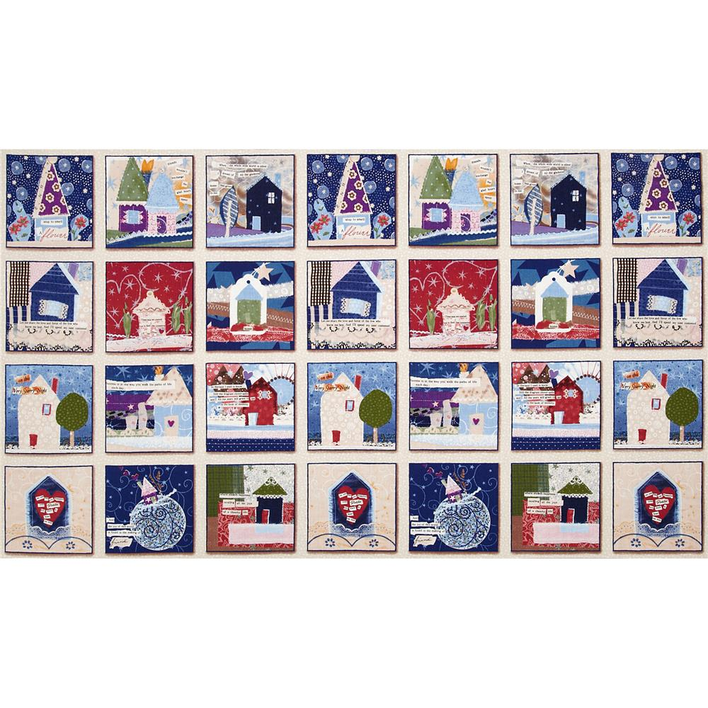 Our House House Blocks Panel Cream
