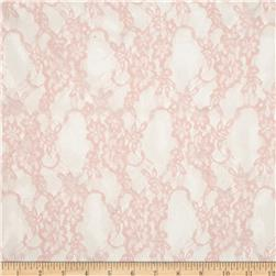 Floral Stretch Lace Blush Pearl Fabric