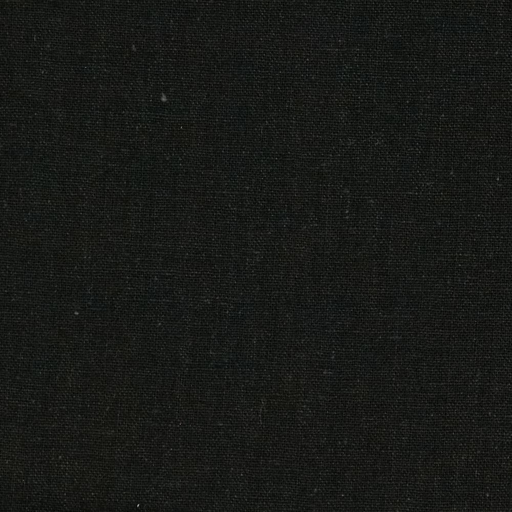 Designer Essentials Linen/Cotton Solid Black
