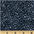 Snowy Peak Metallic Snow Dots Pewter/Silver