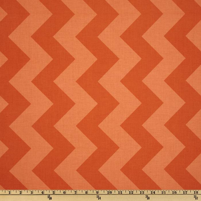 Riley Blake Chevron Large Tonal Orange