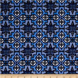 Urban Chic Geo Tribal ITY Knit Blue/Lilac/White