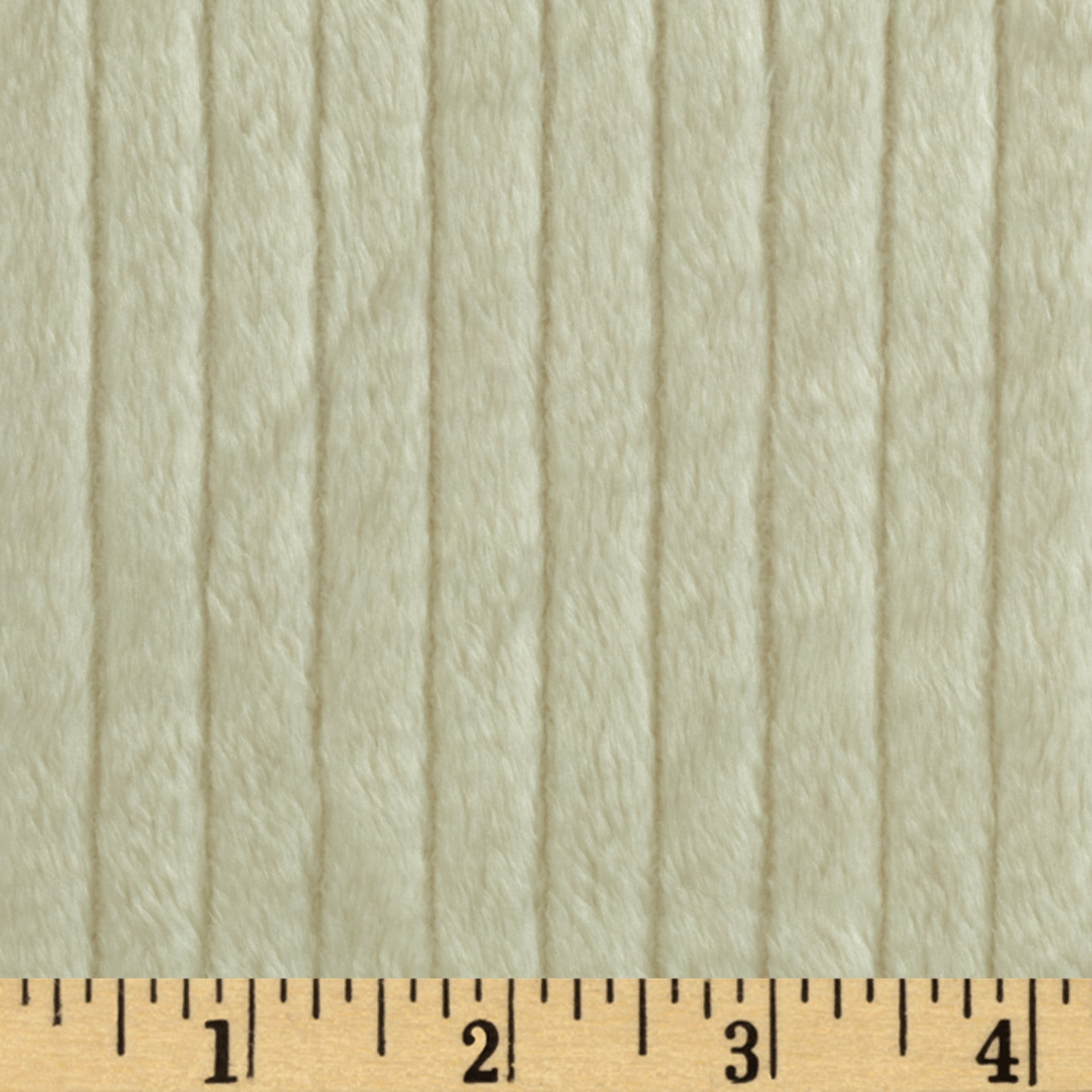 Minky Ribbon Cuddle Ivory Fabric