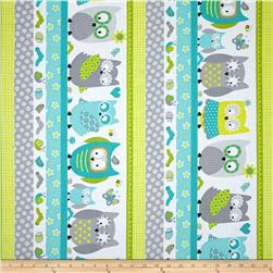 Whoo Loves You  Shelf Stripe Gray/Multi