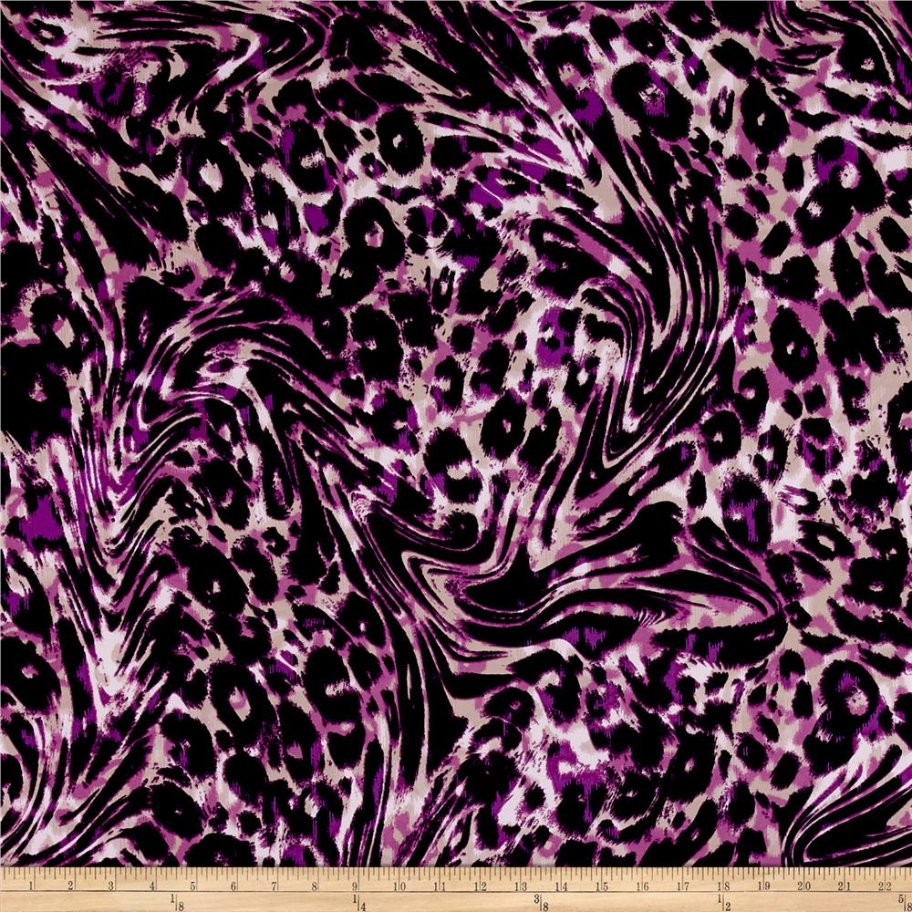 ITY Jersey Knit Cheetah Print Purple/Black