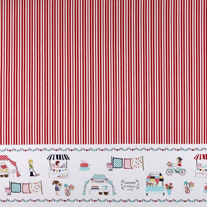 Riley Blake Vintage Market Border Red