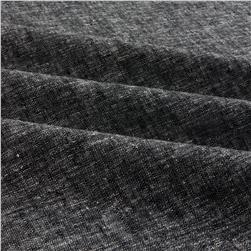 Brussels Washer Yarn Dye Black Fabric