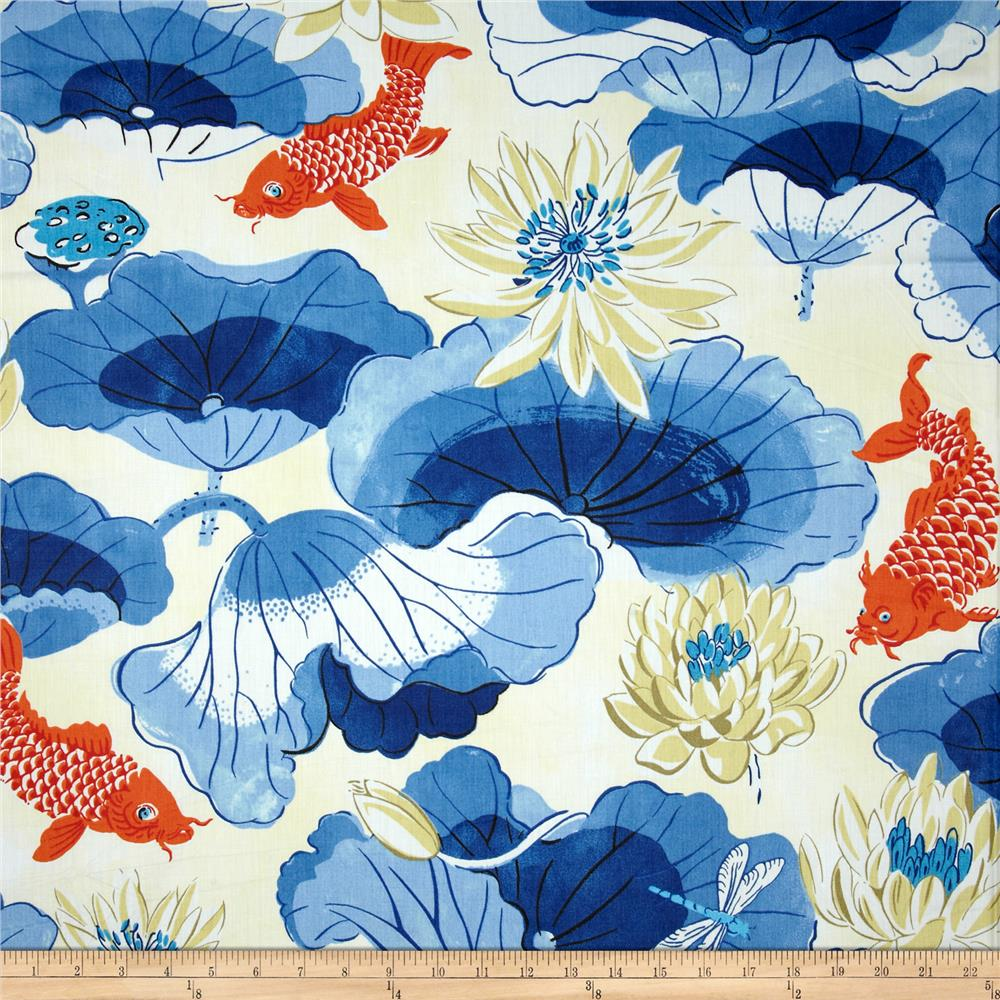 Waverly lotus chintz lake porcelain discount designer for Chintz fabric