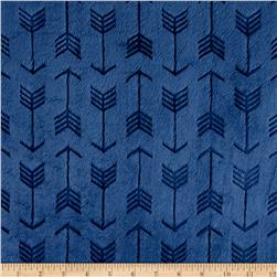 Minky Cuddle Embossed Arrow Navy