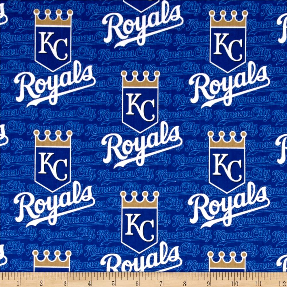 Kansas City Royals  Cotton Broadcloth Blue