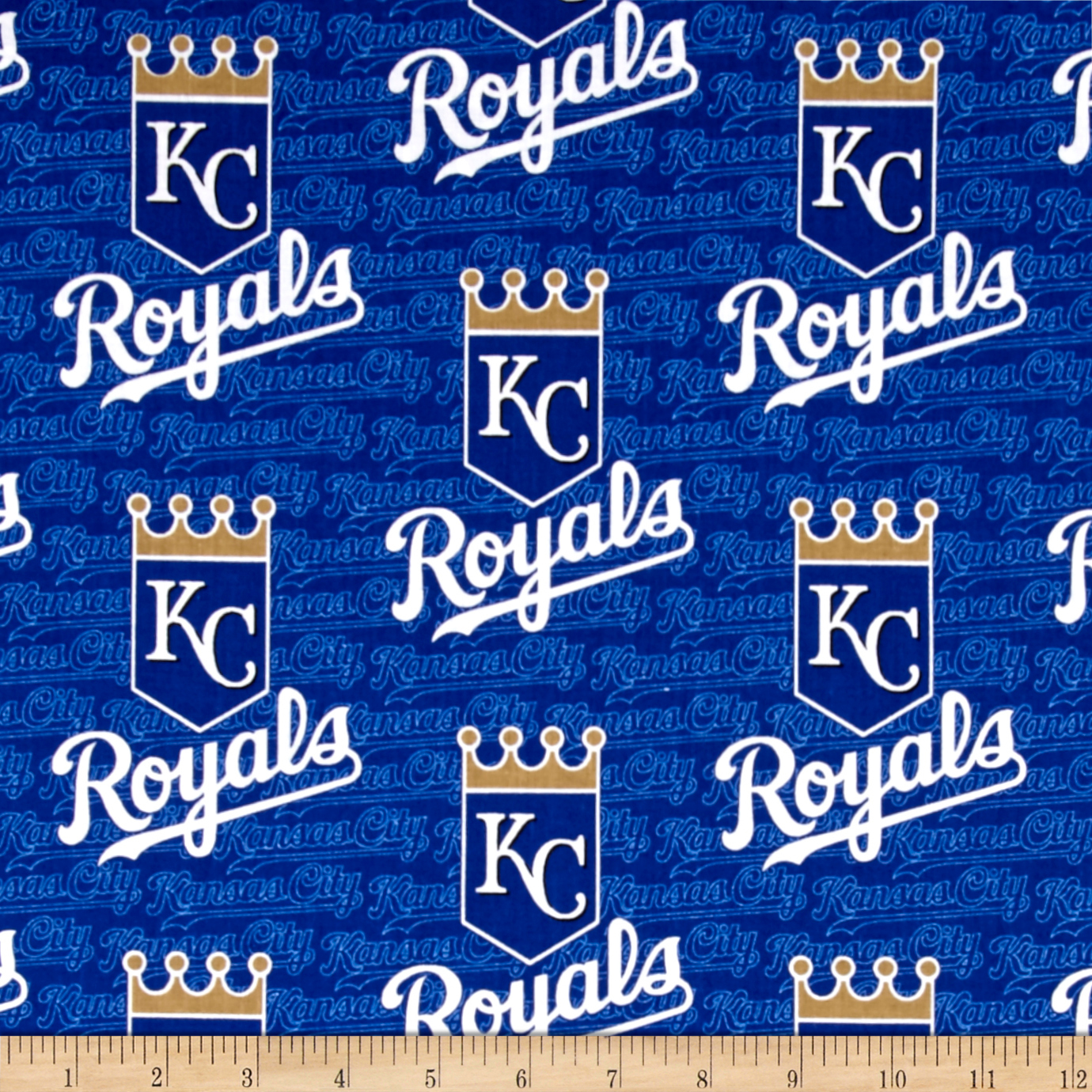 Kansas City Royals Cotton Broadcloth Blue Fabric by Fabric Traditions in USA