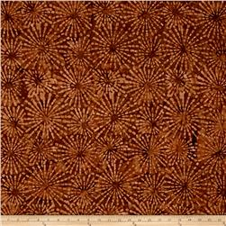 Benartex Balis Batik Sundrenched Ray of Light Light Cocoa
